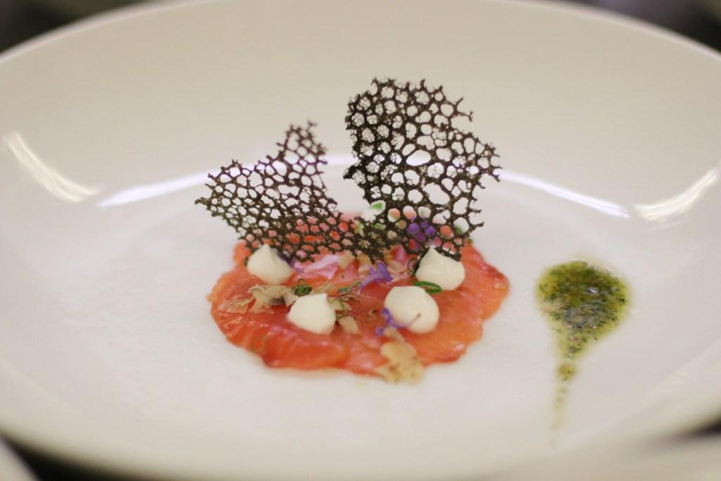 Chef Nelson Millán | Salmon Carpaccio | Leland Lodge Wine Cellar