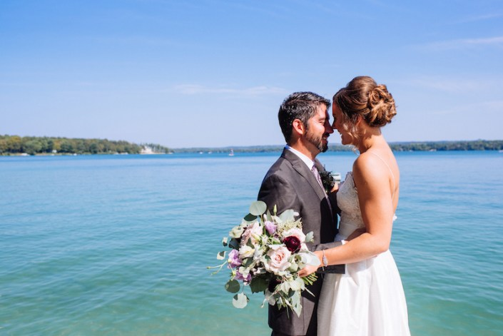 LL   Fishtown Leland Hotel   Fall Wedding   Lake MI   Bride & Groom