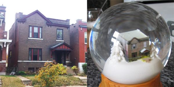 Qarl's House As A 3D Printed Snowglobe Model
