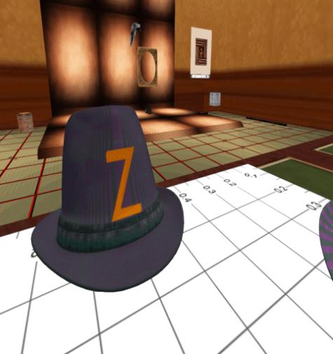 Z for Zeuhl Hat Sparkly Stripes