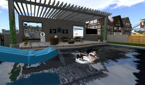 Pool Party at SLUniverse SL11B exhibit