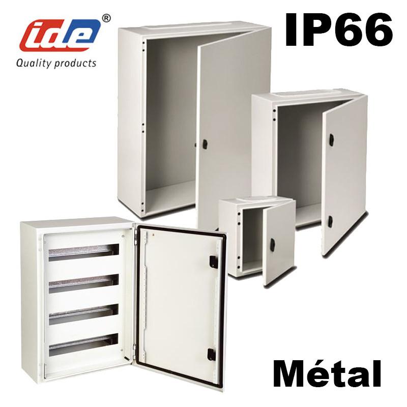 coffret electrique etanche ip66 en metal ide argenta