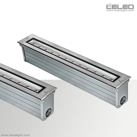 linear inground led uplighting outdoor