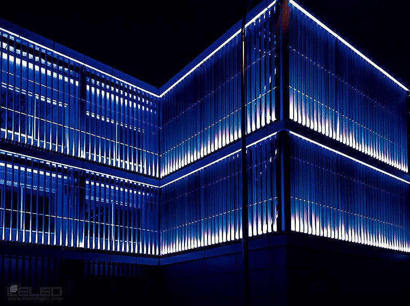 lighting building facade design idea for LED high power projector spot lights