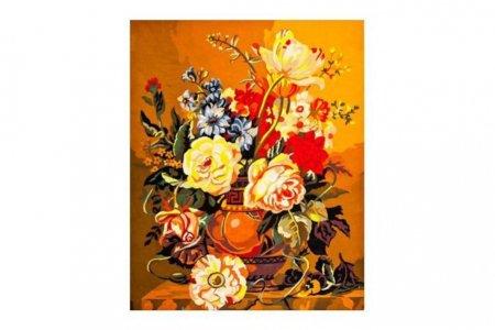 Канва с рисунком COLLECTION D'ART Цветы в греческой вазе ...
