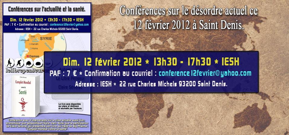Conférence sur Paris le 12 février 2012