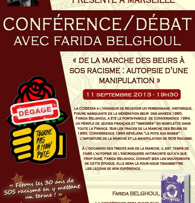Conférence de Farida Belghoul à Marseille ce 11/9