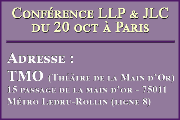 Dernier rappel conférence de Paris + Adresse