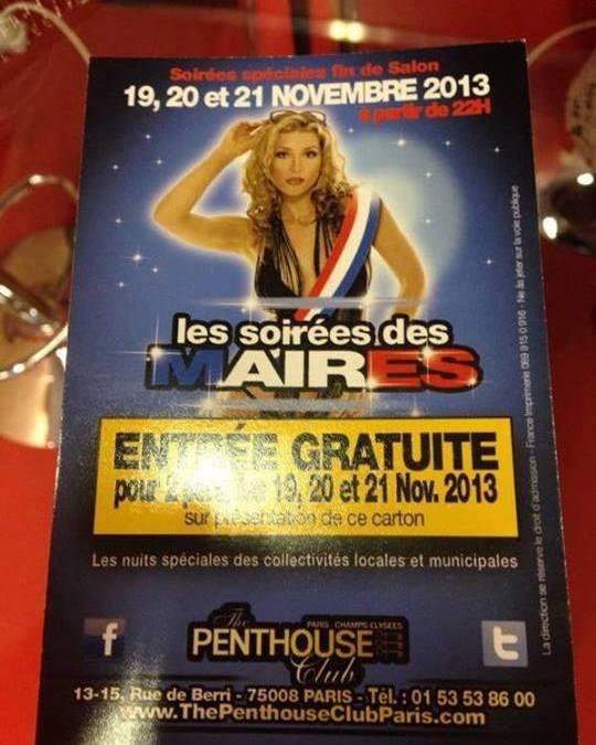 Les Maires de France au Penthouse Club de Paris