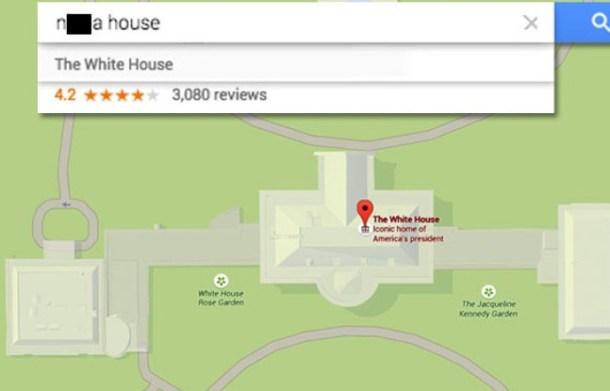 google-map-nigga-nigger-maison-blanche-apparait
