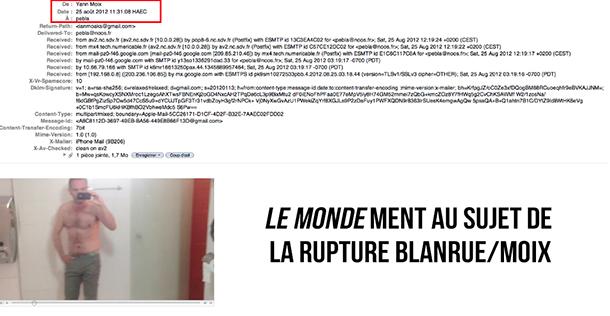 Scoop : «Le Monde» ment au sujet de la rupture Blanrue/Moix – Les preuves en images.