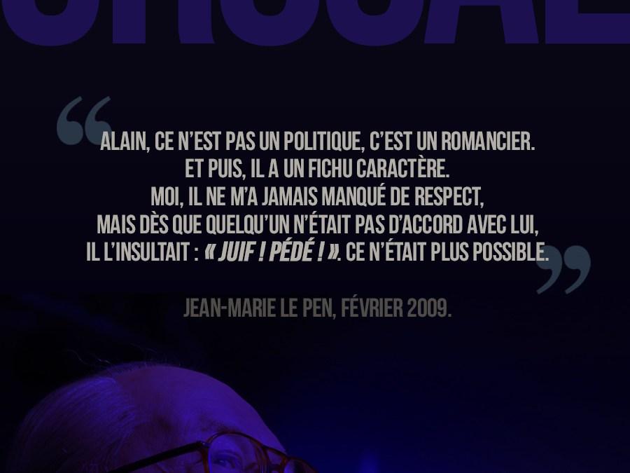 Le Mythomane vu par Jean-Marie Le Pen