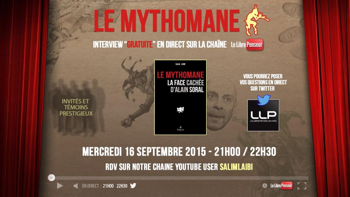 «Le Mythomane» : ITW de LLP en direct sur la chaîne Youtube le 16 septembre à 21h