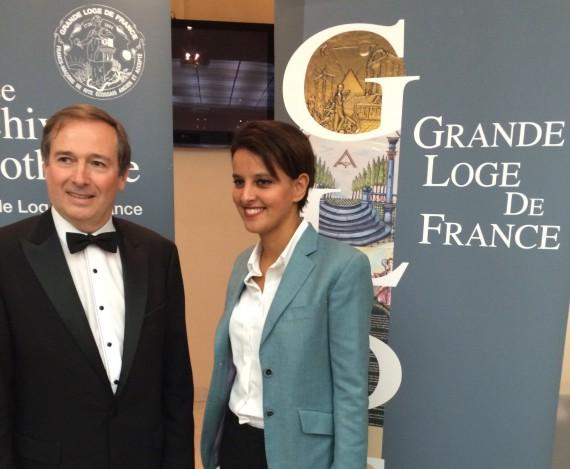 Dîner annuel de la Grande Loge de France avec J. Toubon, A. Bidar et NVB