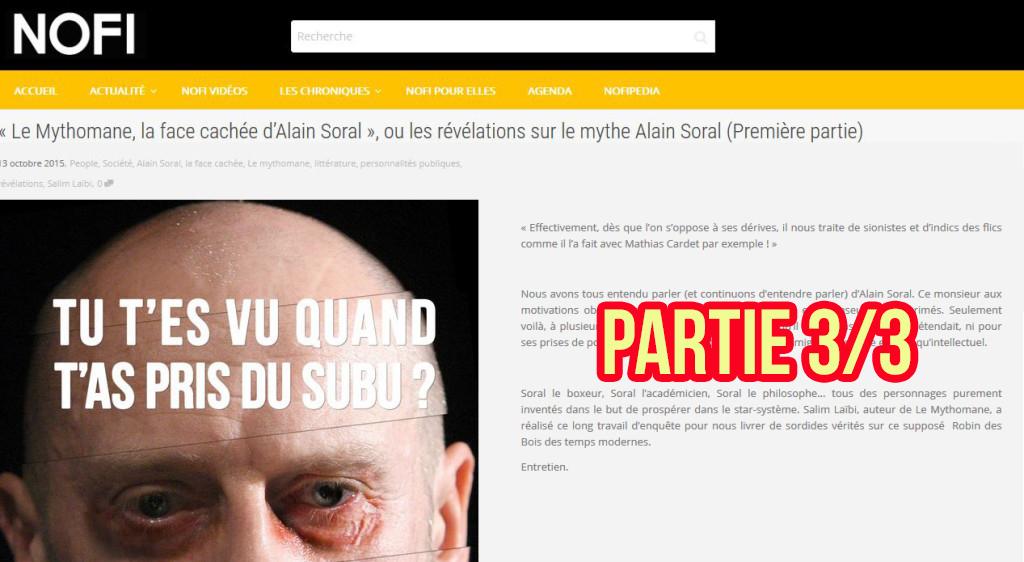 «Le Mythomane» : ITW de Salim LAÏBI par le site Noir et Fier (NOFI) – Suite et fin