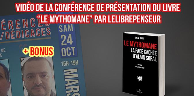 Vidéo de la conférence de présentation du livre «Le Mythomane»