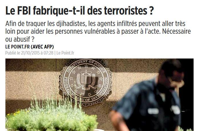 FBI/Terrorisme : Le Point commencerait-il à comprendre ?