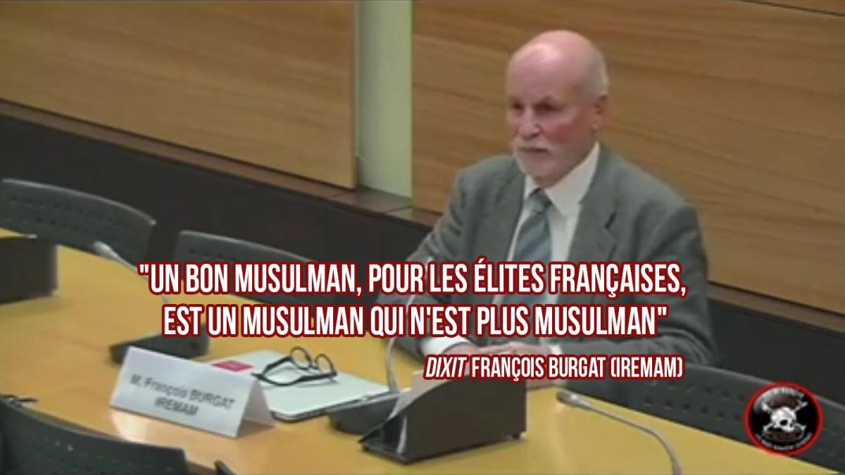 François Burgat : «Un bon musulman, pour les [élites françaises], est un musulman qui n'est plus musulman» !