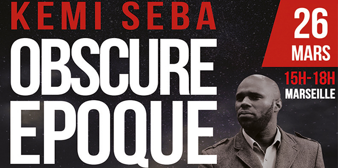 Conférence de Kemi Seba à Marseille le samedi 26 mars 2016