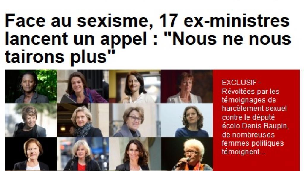 Harcèlement sexuel ou voile islamique : 17 anciennes ministres osent enfin en parler !