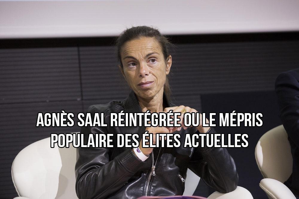 La voleuse Agnès Saal réintégrée dans la fonction publique !