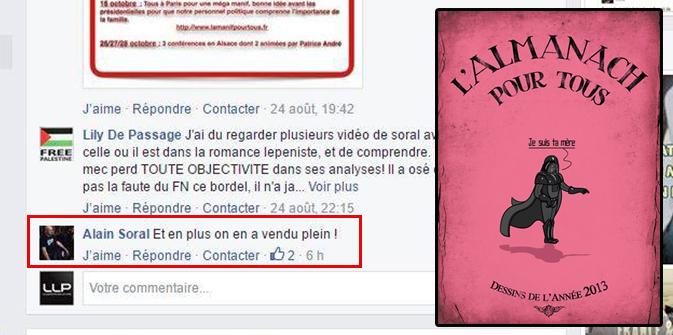 Arrogance : Soral qui n'a pas payé plusieurs auteurs de «L'almanach pour tous», s'en moque publiquement !