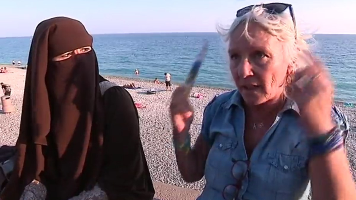 Nice : le dialogue impromptu entre une femme en niqab et une touriste en colère sur la promenade des Anglais