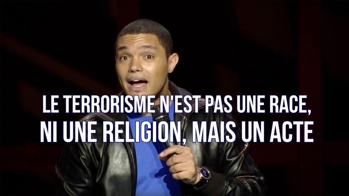 Le comédien Trevor Noah parle de la situation en France