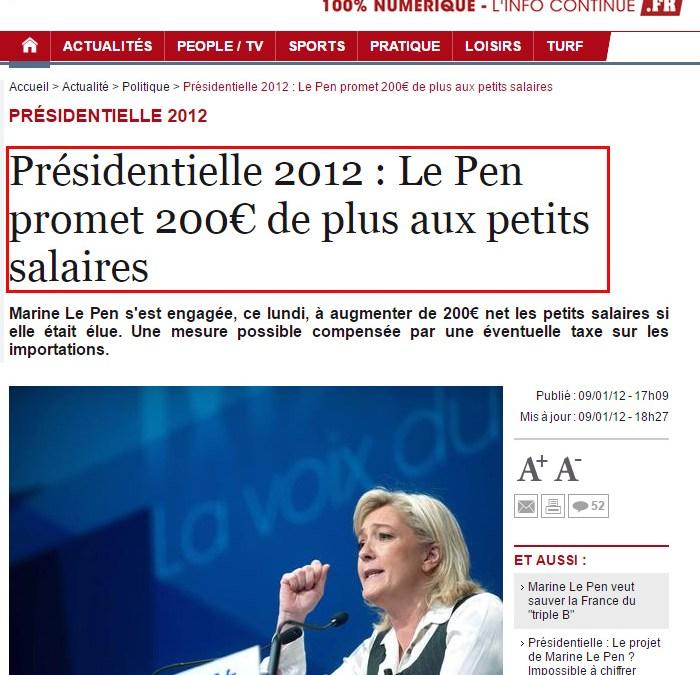 Cirque : Marine Le Pen la joue comme Trump mais a tout faux !