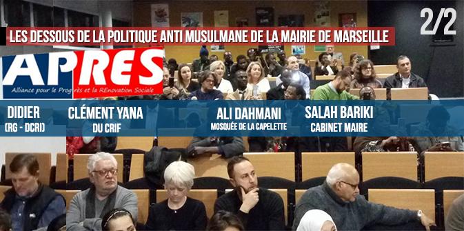 Les dessous de la politique anti-musulmane, à la mairie de Marseille : Gaudin, Bariki, Djellil, Yana, les RG… [2/2]
