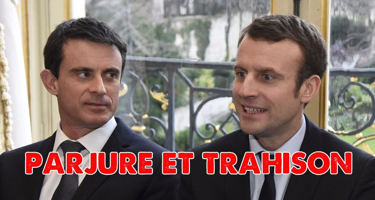 Retour sur le parjure de Valls le traître !