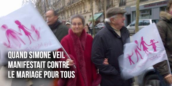 Simone Veil avait manifesté aux côtés de la Manif pour tous