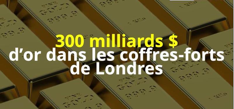 Londres abrite près de 300 milliards de dollars d'or dans ses coffres-forts