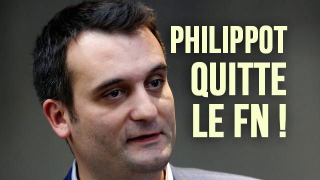 Bingo : Florian Philippot quitte le FN, comme prévu !