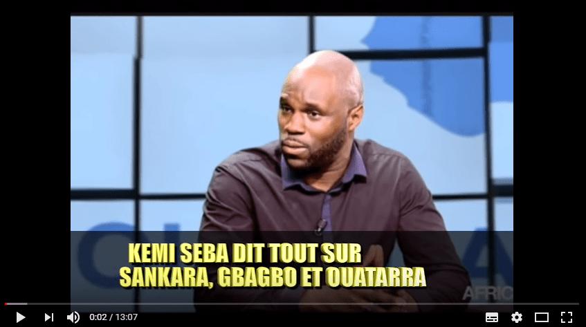 Kemi Seba dit tout sur Thomas Sankara, Laurent Gbagbo et Alassane Ouattara