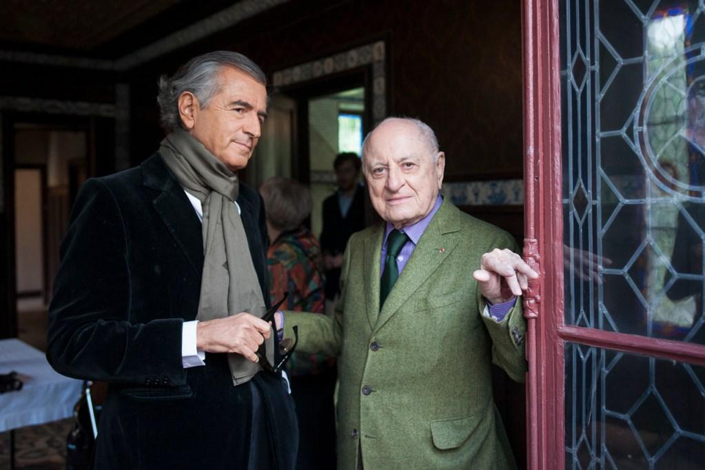 Bernard-Henri Lévy et Pierre Bergé - pèlerinage littéraire à la maison Zola - discours de Médan - 6 octobre 2013 - Photo Yann Revol
