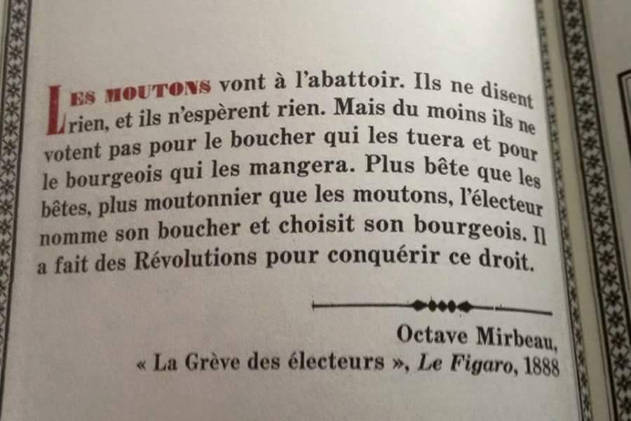 La Grève des électeurs, d'Octave Mirbeau