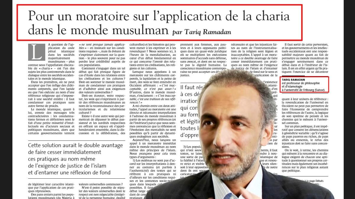 Tariq Ramadan voulait abolir la « charia » en terre islamique