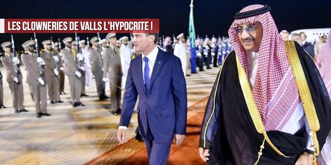 Les clowneries de Valls l'hypocrite !