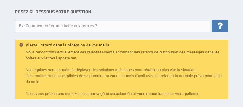 1 mois pour réaliser la maintenance du site « La Poste.net » !