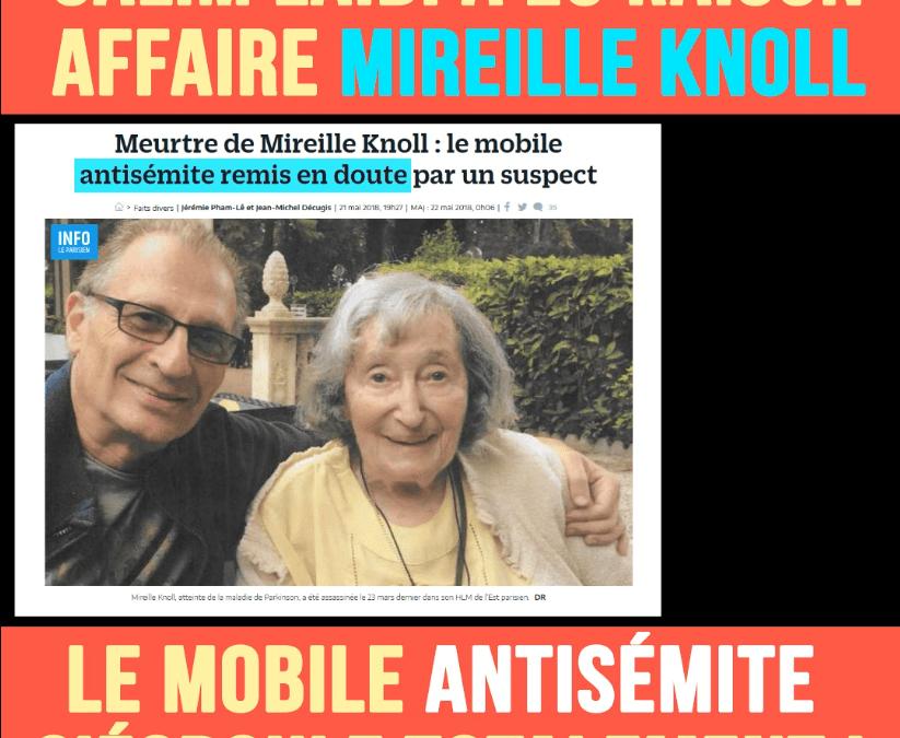 Affaire Mireille Knoll : le mobile antisémite s'écroule totalement !