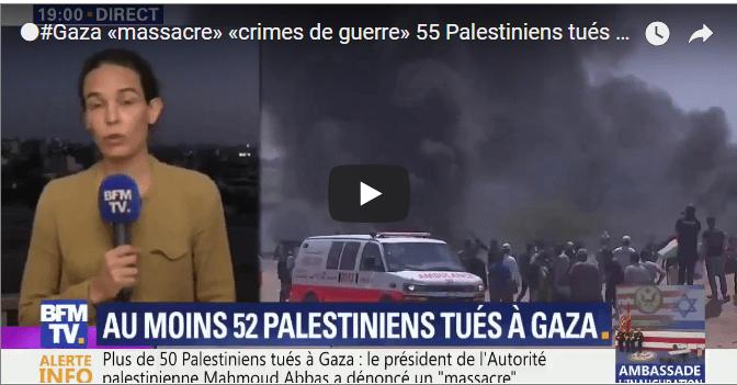 52 Palestiniens tués à Gaza le jour de l'inauguration de l'ambassade américaine à Jérusalem