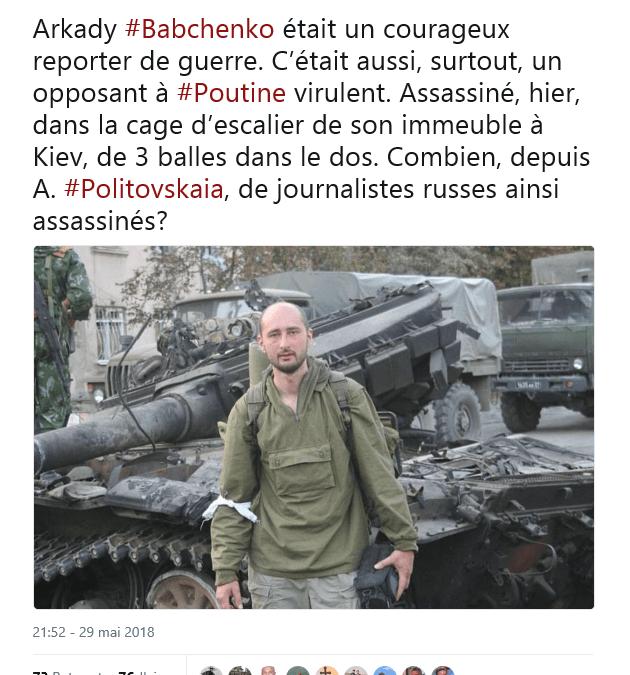 Affaire Babchenko : Botul-Henri Lévy a récidivé