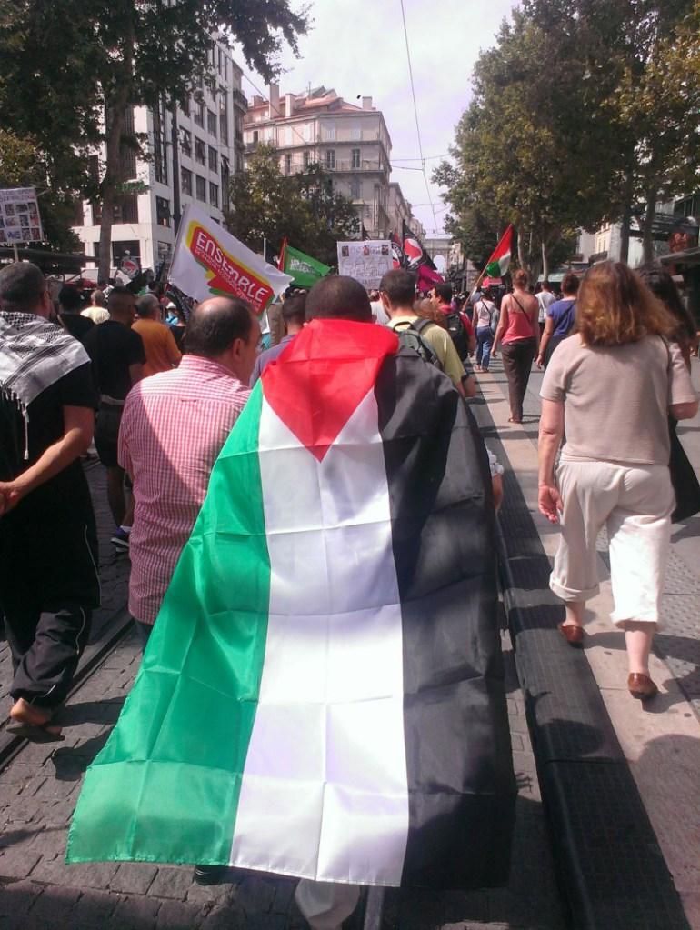 Salim Laïbi dans une manifestation pro palestinienne