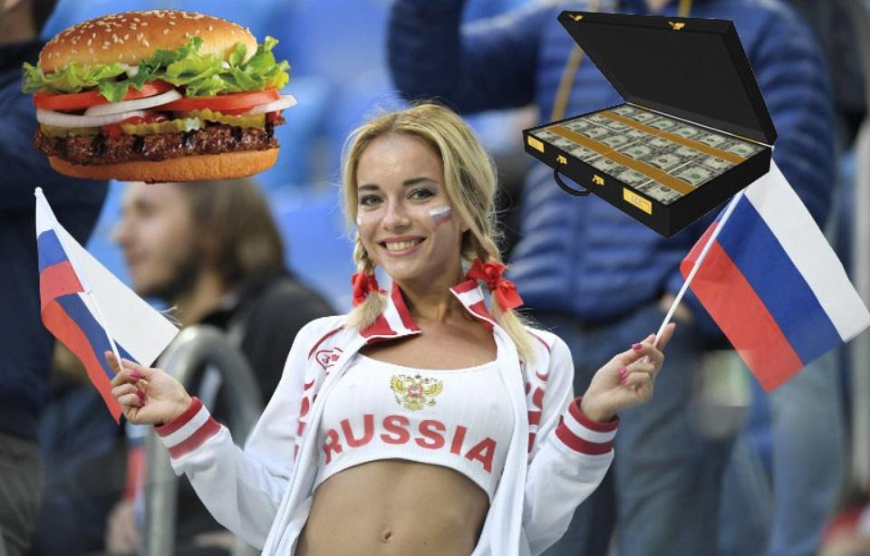 Mondial 2018 : 40.000 euros et des burgers à vie pour coucher avec un footeux… Babylone King fait scandale en Russie
