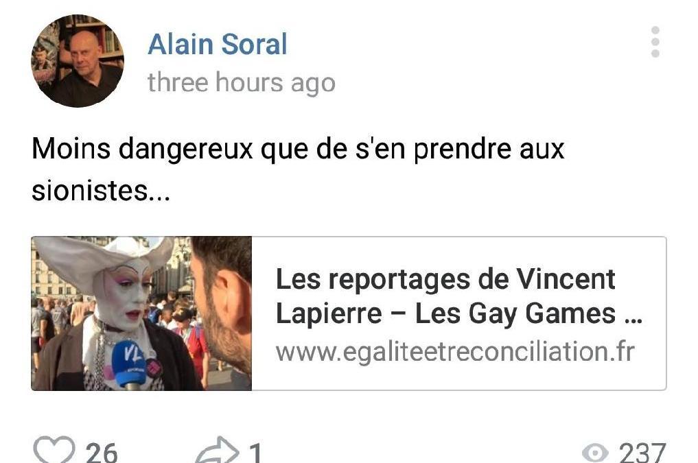 Comme prévu, Soral s'attaque à Vincent Lapierre !