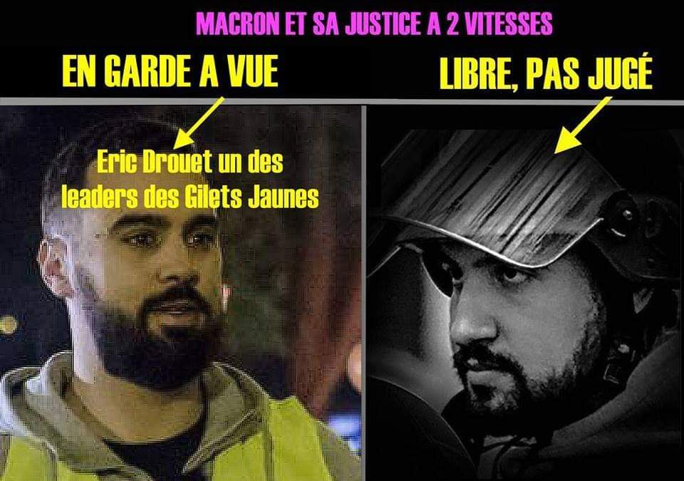 « Libérez Éric Drouet ! » : il a été arrêté par la police politique de Macron