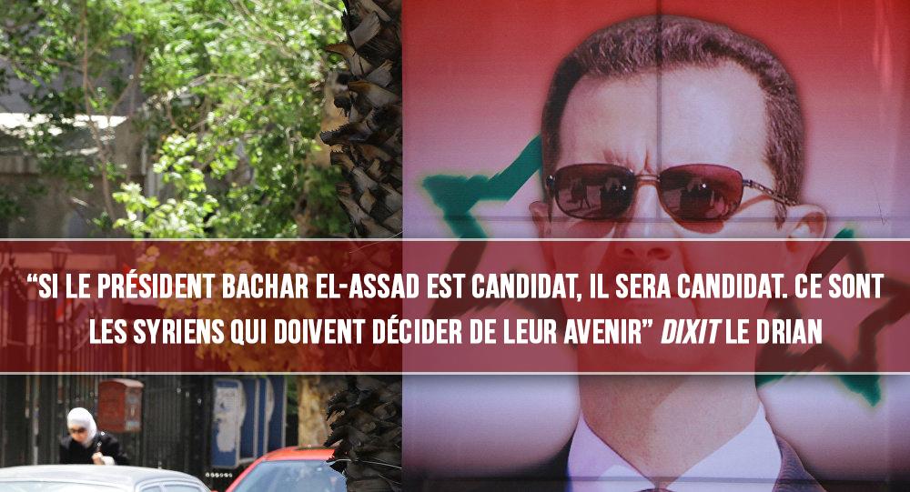 Le franc-maçon Le Drian n'exclut pas une candidature d'Assad à la tête du pays !