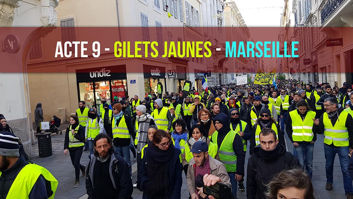 #GiletsJaunes/Acte 9 : mobilisation en hausse à Marseille