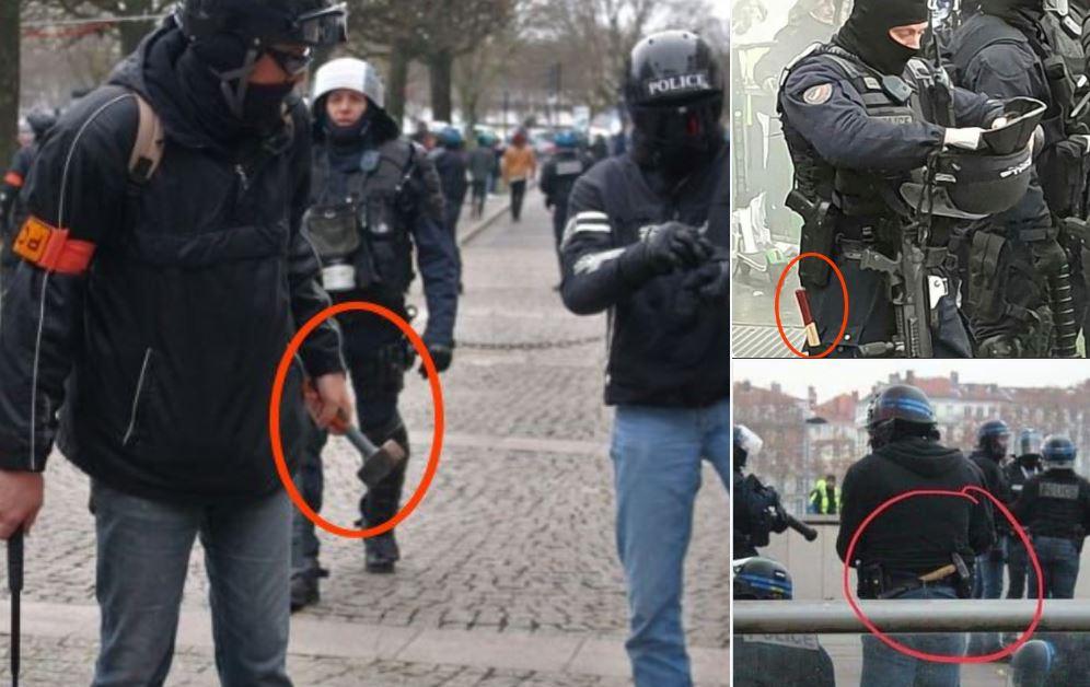 #GiletsJaunes : les forces de l'ordre armées de… marteaux !